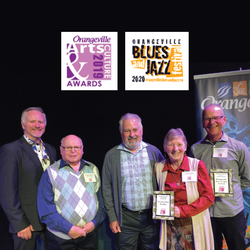 Orangeville Blues & Jazz Festival and Teresa & Ken Huntley Receive Awards