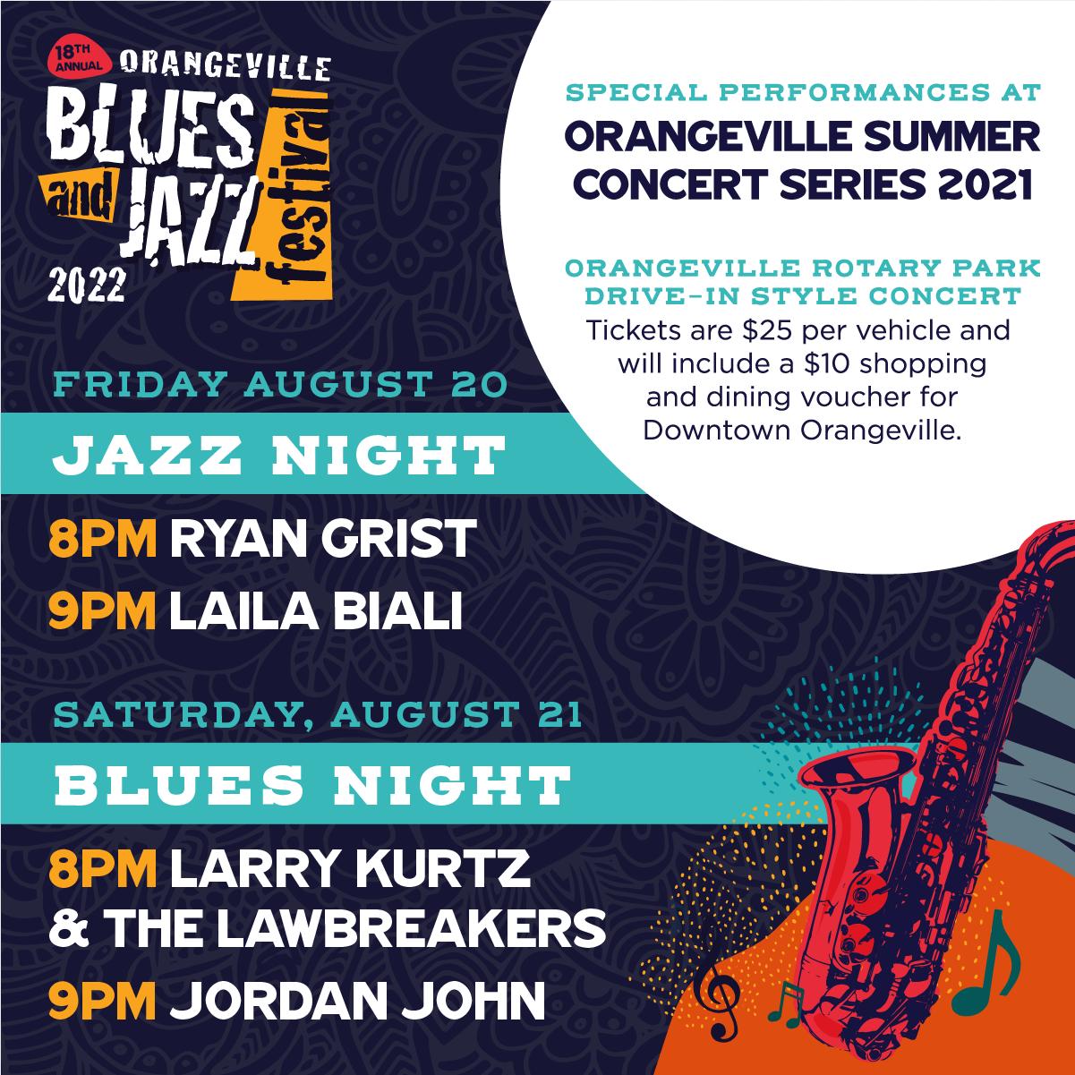 Orangeville Blues & Jazz Festival Announces Special Performances
